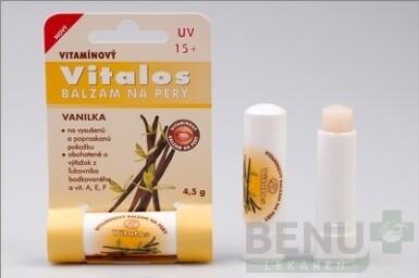 VITALOS Balzam na pery vanilka SPF 15 1ks