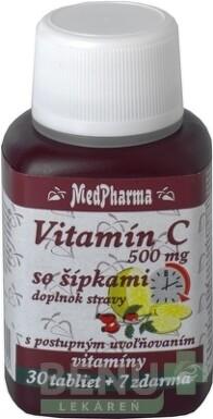 MedPharma VITAMÍN C 500MG so šípkami tbl 30+7 zdarma 2