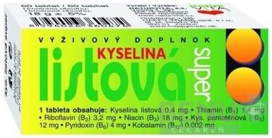 NATURVITA KYSELINA LISTOVÁ SUPER tbl 60