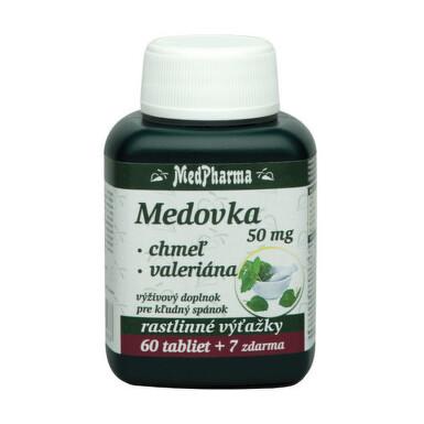 MedPharma MEDOVKA 50MG + CHMEĽ + VALERIÁNA tbl 60+7 zdarma