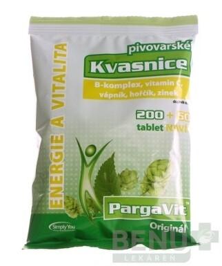 PargaVit ORIGINÁL pivovarské Kvasnice 250 ks tbl 250