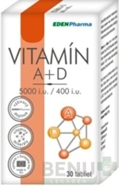 EDENPharma VITAMÍN A + D 5000 I.U./ 400 I.U. tbl 30
