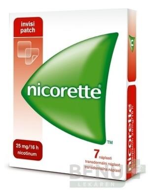 Nicorette invisipatch 25 mg/16 h transder. náplasť emp tdm 7