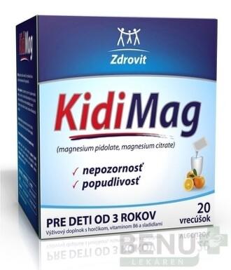 Naturprodukt Kidimag od 3 rokov 20 vrecúšok plv por 1x20ks