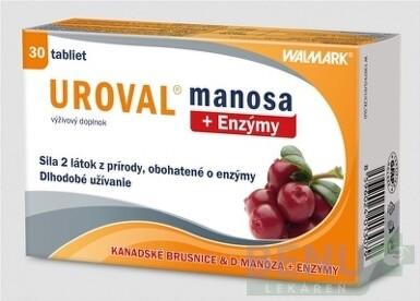 WALMARK UROVAL manosa + Enzýmy tbl 30