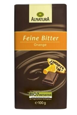 ALNATURA Jemná horká pomarančová čokoláda 100g