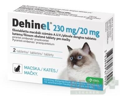 DEHINEL 230 mg/20 mg pre mačky tbl 2