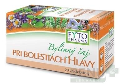 FYTO Bylinný čaj PRI BOLESTIACH HLAVY 20x1,5g