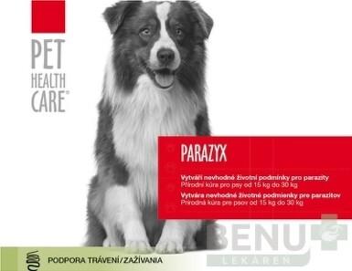 PET HEALTH CARE PARAZYX tablety pre psov od 15 kg do 30 kg 1x44 ks
