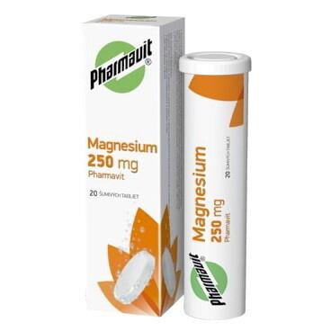 MAGNESIUM 250 mg PHARMAVIT tbl eff 20