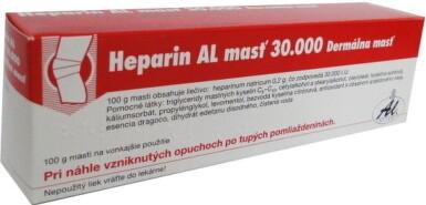 Heparin AL masť 30 000 ung 100g