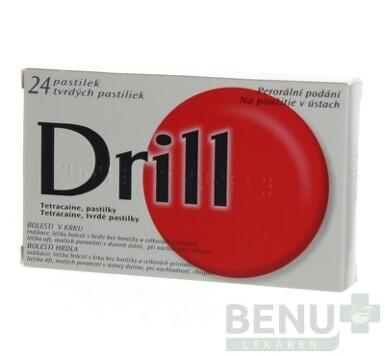 DRILL BEZ CUKRU tvrdé pastilky 24ks