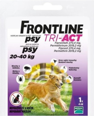FRONTLINE TRI-ACT Spot-On pre psy L 1x4ml