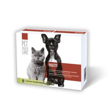 PET HEALTH CARE PARAZYX tablety pre psov do 15 kg a mačky 22 ks