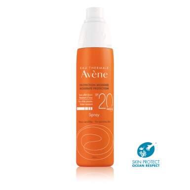 AVENE Sprej SPF20 pre citlivú pleť 200 ml
