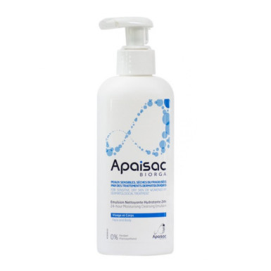 APAISAC BIORGA 24h hydratačný čistiaci krém, modrá rada 200 ml