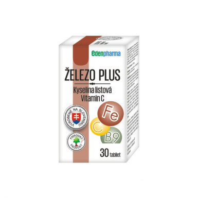 EDENPHARMA Železo plus 30 tabliet