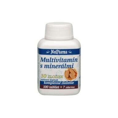 MEDPHARMA Multivitamín s minerálmi 30 zložiek 100 + 7 tabliet ZADARMO