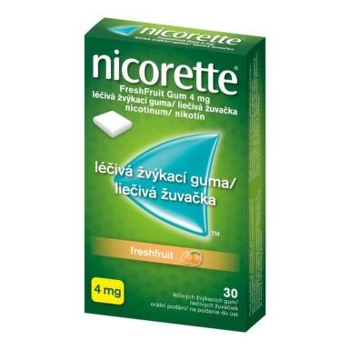 NICORETTE Freshfruit gum 4 mg 30 žuvačiek