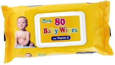 HYGIENICKÉ UTIERKY BABY WIPES S VITAMÍNOM E 80ks