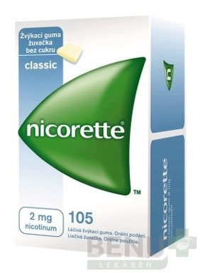 Nicorette Classic Gum 2 mg gum med 105x2mg