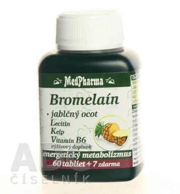 MedPharma BROMELAIN 300 mg + JABL.OCOT + LECITIN tbl 60+7 zdarma