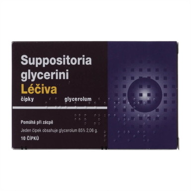 Suppositoria glycerini Léčiva sup 10x2,35g