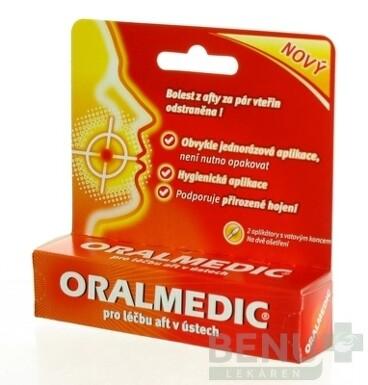 ORALMEDIC roztok na liečbu áft 2x0,2 ml 2x0,2ml