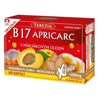 Terezia Company B17 APRICARC s marhuľovým olejom 60 cps. cps 50+10 zdarma