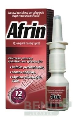 Afrin 0,5 mg/ml nosový sprej aer nao 15ml
