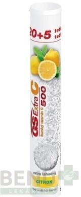 GS Extra C 500 šumivý citrón tbl eff 20+5zdarma