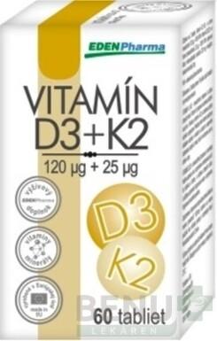 EDENPharma VITAMÍN D3 + K2 tbl 60
