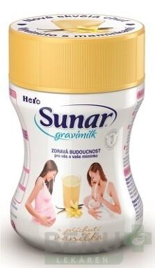 Sunar Gravimilk s príchuťou vanilka 1x300 g 300g