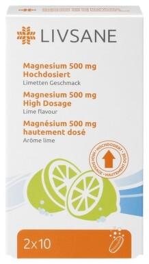 LIVSANE Magnézium 500 mg 20 tbl eff