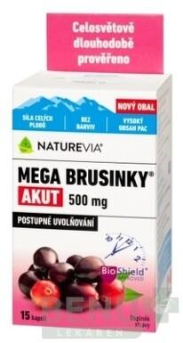 SWISS NATUREVIA MEGA BRUSNICE AKUT 500 mg cps 1x15 ks cps 15