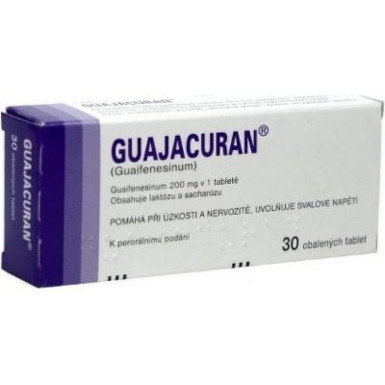GUAJACURAN drg 30x200mg (blis.)