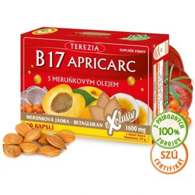 TEREZIA B17 Apricars s marhuľovým olejom 50 + 10 kapsúl ZADARMO