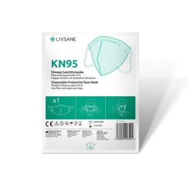 LIVSANE Ochranny respirátor KN95 1 kus