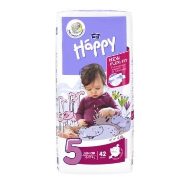 HAPPY Detské plienky 5 junior 42 kusov