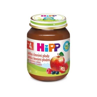 HiPP Príkrm ovocný BIO jablká s lesnými plodmi 125 g