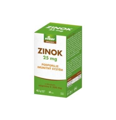 VITAR Organic zinok 25 mg 60 tabliet