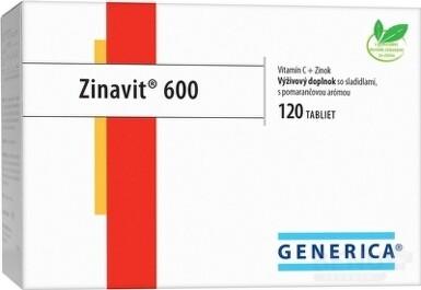 GENERICA Zinavit 600 s príchuťou pomaranča tbl 120