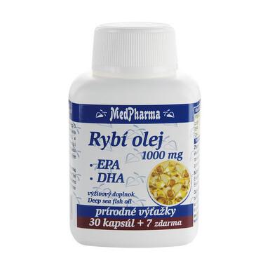 MedPharma RYBI OLEJ 1000 mg - EPA, DHA tbl 30+7 zdarma