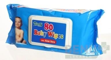 HYGIENICKÉ UTIERKY BABY WIPES S ALOE 80ks