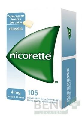 Nicorette Classic Gum 4 mg gum med 105x4mg