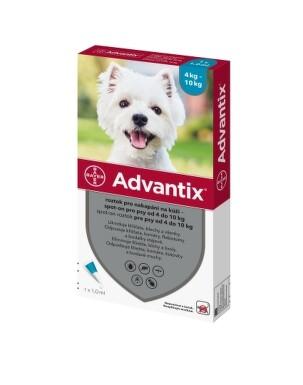 Advantix Spot-on pre psy od 4 do 10 kg 1x1ml