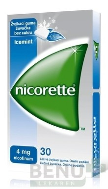 Nicorette Icemint Gum 4 mg gum med  30x4mg