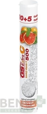 GS Extra C 500 šumivý červený pomaranč tbl eff 20+5zdarma