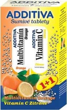 ADDITIVA Multivitamin Pomaranč+ Citrón tbl eff 20+20