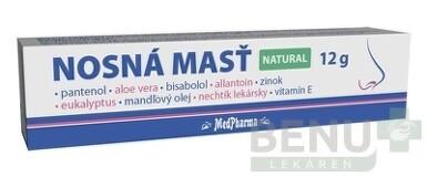 MedPharma NOSNÁ MASŤ NATURAL 12g